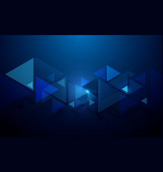 abstract triangles technology background vector image vector image