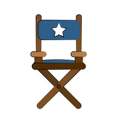 Director wooden chair vector