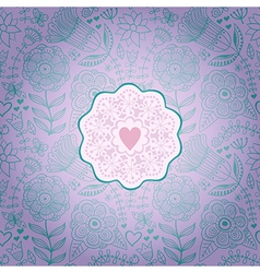 Floral Background with Vintage LabelGorgeous vector image