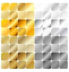 Golden and Silver Gradient Pattern Template vector image vector image