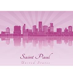 Saint Paul skyline in purple radiant orchid vector image vector image