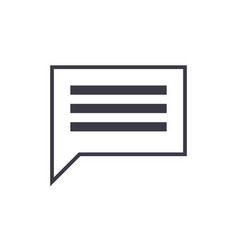 simple chat line icon sign vector image