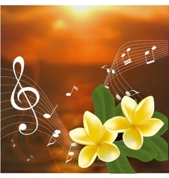 Summer music party template with realistic vector image
