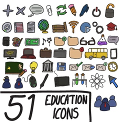 51 icons color vector