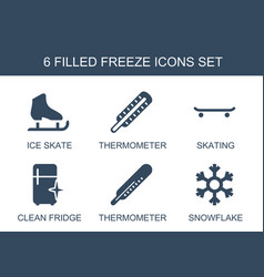 6 freeze icons vector image