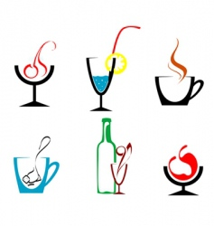 beverages and drinks vector image
