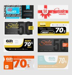 Big voucher discount template set vector