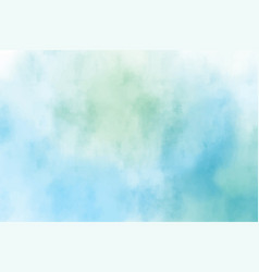 blue and green watercolor textured background vector image