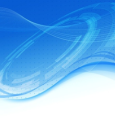 Blue wave - modern tech background vector