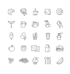 breakfast icons stock set vector image