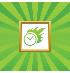 Burning time picture icon vector image