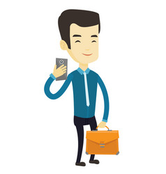 business man making selfie vector image