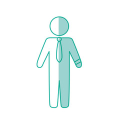 Businessman draw silhouette vector