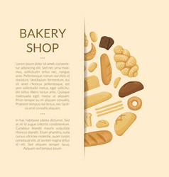 cartoon bakery elements background of vector image