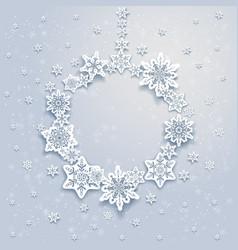 christmas snowflakesl frame vector image