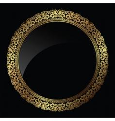 circular gold frame vector image