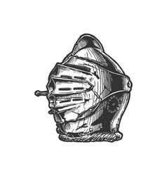 close helmet maximilian armet vector image