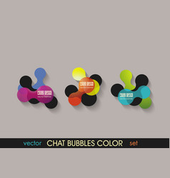 colored speech bubbles in abstract shape vector image