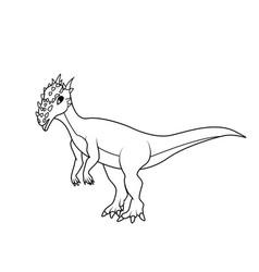 coloring book dracorex dinosaur vector image