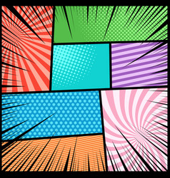 Comic book light background vector