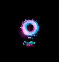 Creative idea logo light bulb abstract vector