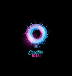 creative idea logo light bulb abstract vector image