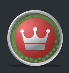 crown dark badge vector image
