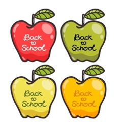 Cute cartoon apples Back to school vector