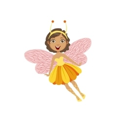 Cute Fairy With Insect Features Girly Cartoon vector
