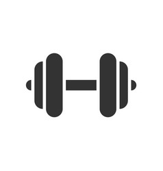 dumbbell black icon on white background fitness vector image
