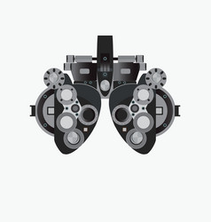 eye examination isolated on white background vector image