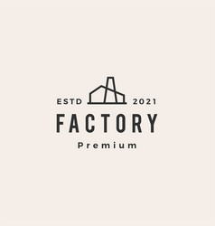 factory hipster vintage logo icon vector image