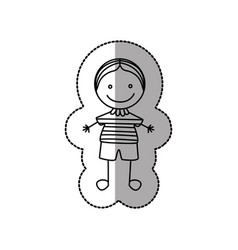 figure nerd boy icon vector image