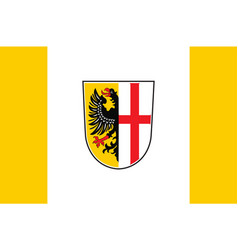 Flag of memmingen in swabia in bavaria germany vector