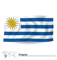 Flag of Uruguay vector image