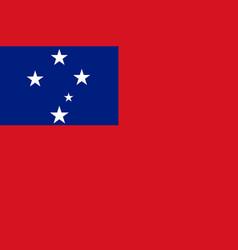 Flag samoa flat style vector