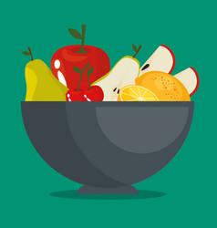 Fresh organic fruit concept vector