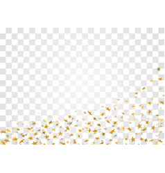 Gold star confetti background vector