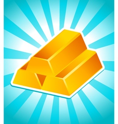 golden bars vector image