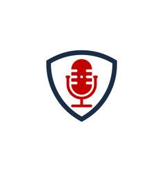 Guard podcast logo icon design vector