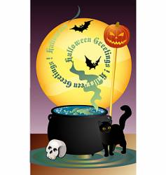 halloween greetings vector image
