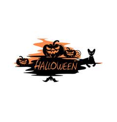 Halloween label free vector