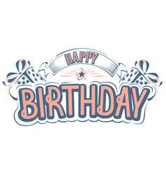 happy birthday greeting card with a beautiful insc vector image