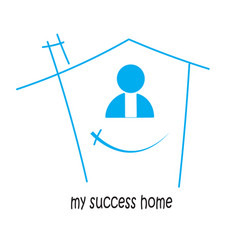 home my success and victory in and isolated vector image