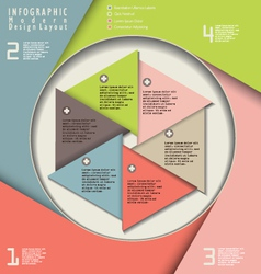 Infographic modern design vector image