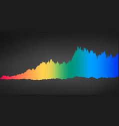 Infographic spectrum color sound waveform vector