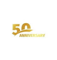 isolated abstract golden 50th anniversary logo vector image