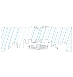 Isolated skyline of Berlin vector image