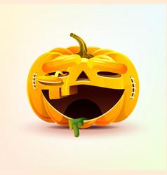 Jack-o-lantern terrible facial expression smiley vector
