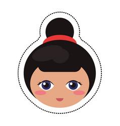 kokeshi head traditional culture vector image